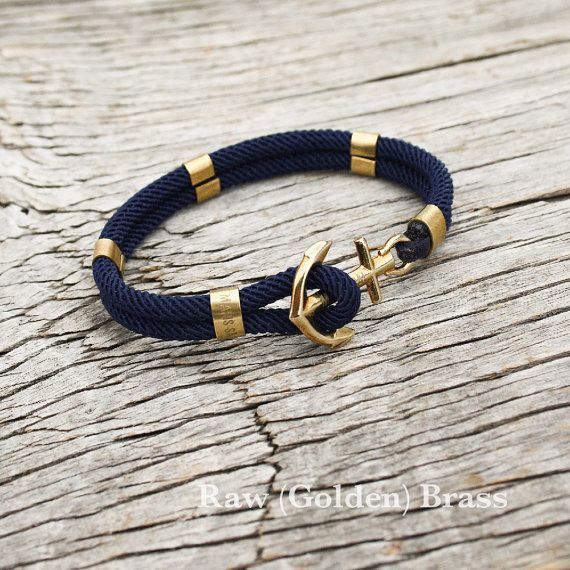 Nautical sailors anchor bracelet New Haven by byMarisSal on Etsy, $28.00