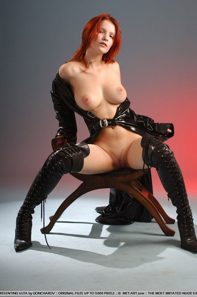 Says her redhead naked in black boots want deep