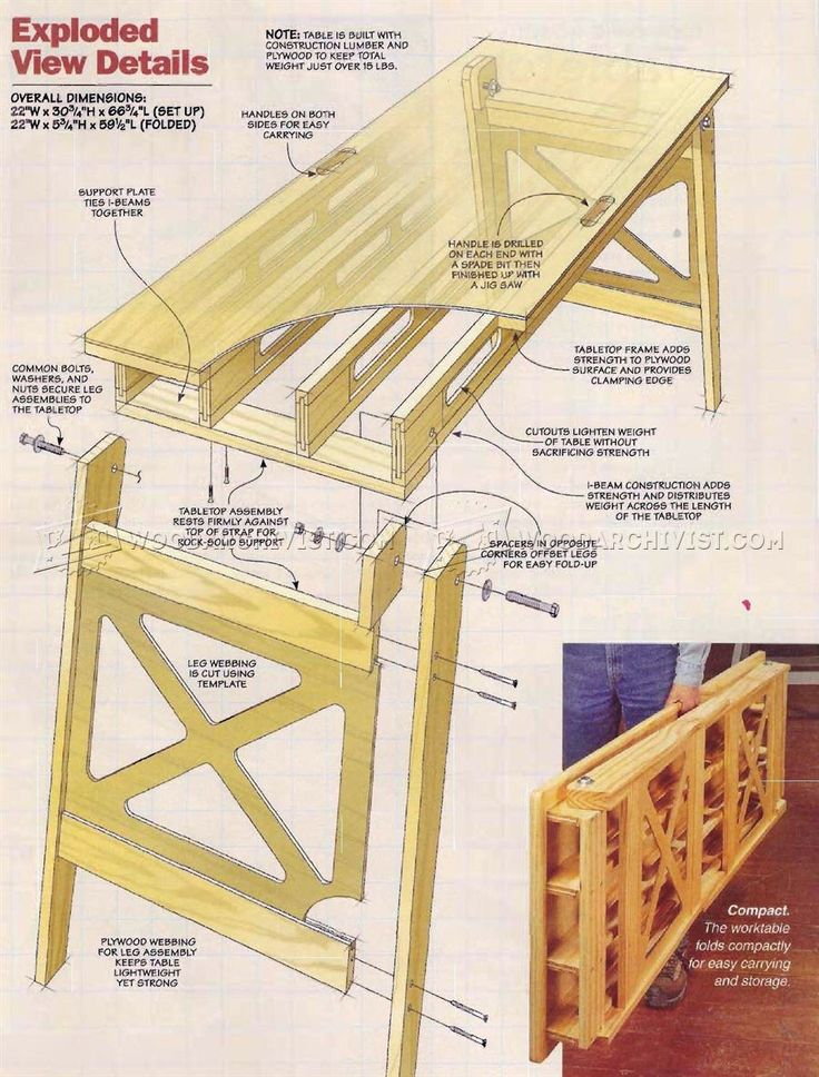 17 best images about wood on pinterest for Folding table plans free