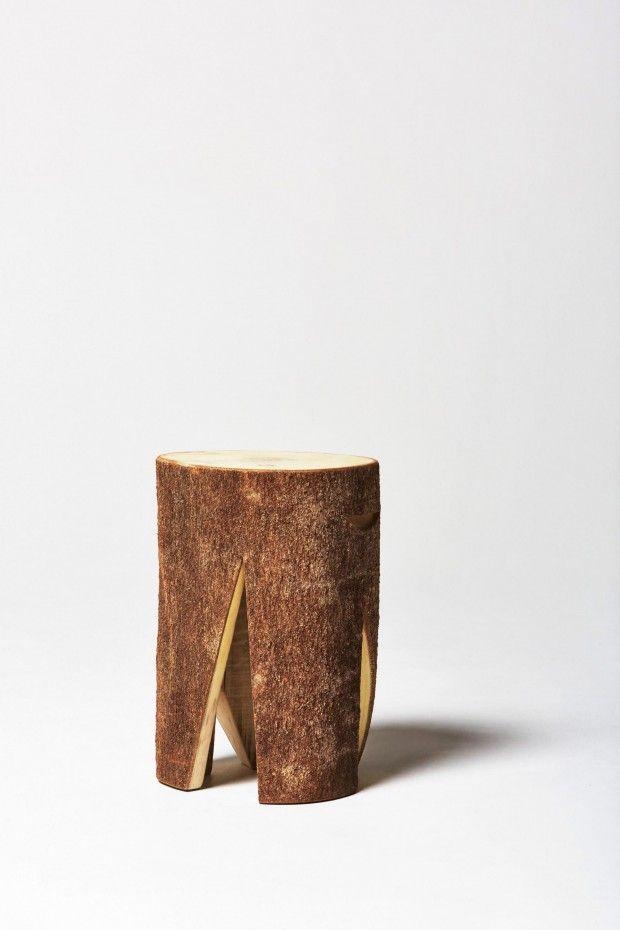 LOG, des meubles créés à partir de bûches de bois par Torafu Architects - Journal du Design