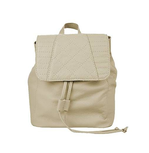 Kozena-galanteria / Dámsky módny kožený ruksak 8659 z prírodnej kože v bežovej farbe