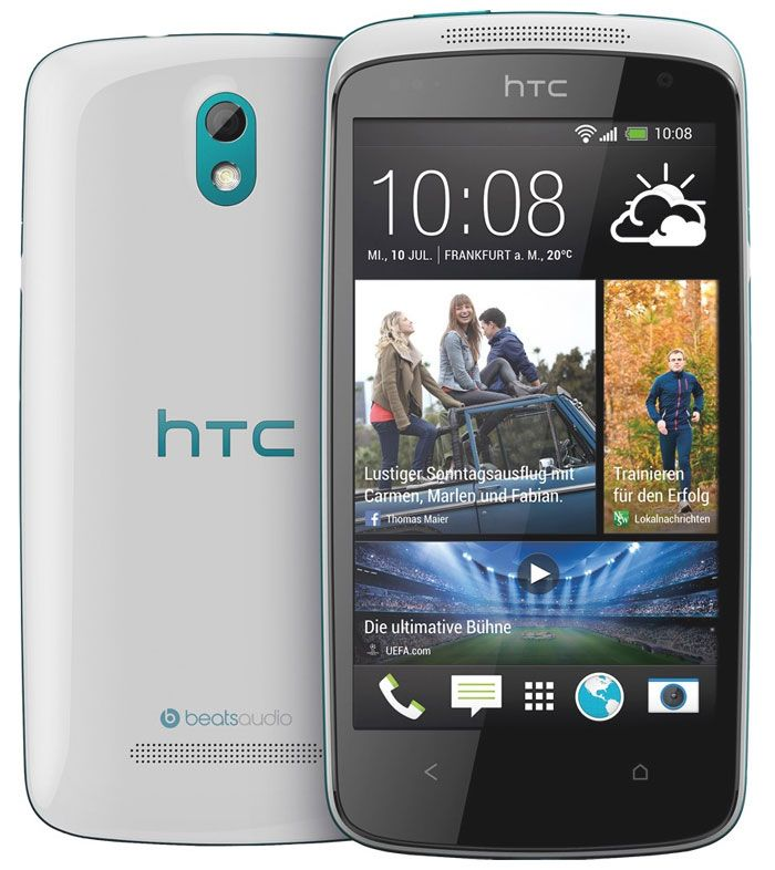 HTC Desire 500 mid-range smartphone is functional with the latest Android operating system v 4.1.2 Jelly Bean. There is a quad core Snapdragon 200 processor clocked at 1.2GHz speed. Adding to it there is a 1GB of RAM memory chipped.  http://www.ispyprice.com/mobiles/2327-htc-desire-500-price-list-india/