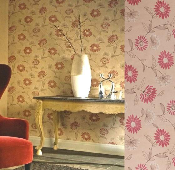 papel pintado de la coleccin casa nuova propio para un recibidor o un saln