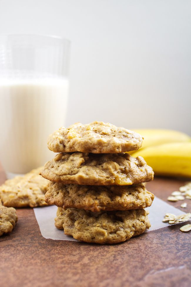 Oatmeal Peanut Butter Banana Cookies | Horses & Heels