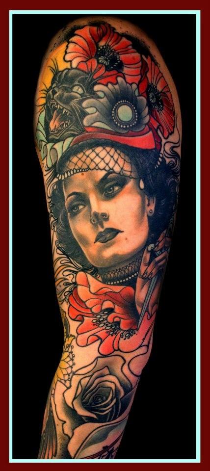 Lars uwe aka lu 39 s lips loxodrom tattoo in berlin ink for Tattoos of lips on the body
