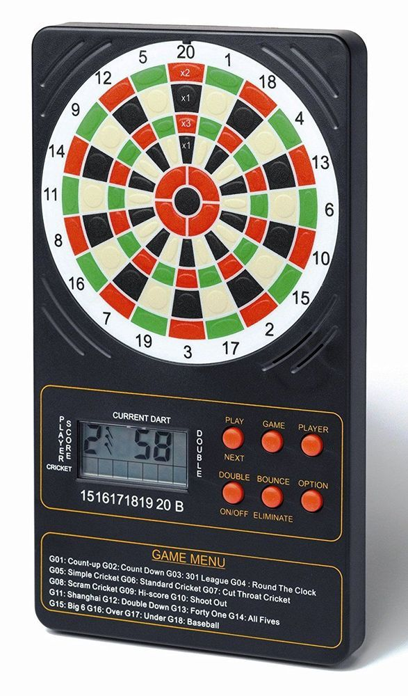 Dartboard Electronic Touchpad Scorer Count Party Game Toy Childrens Home Gift
