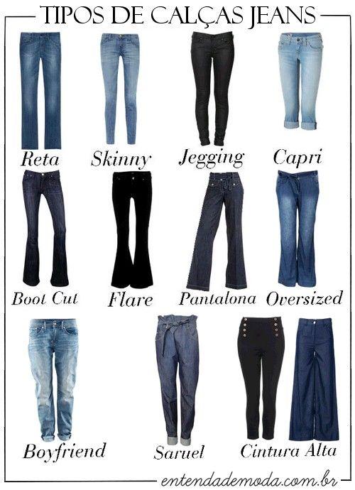 Tipos de calça Jeans.. Para todos os gostos!