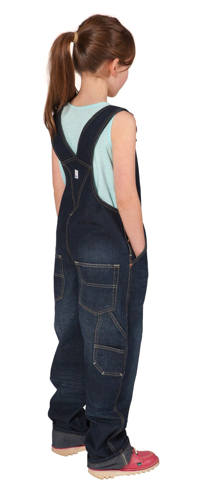 USKEES Girls Denim Dungarees (Darkwash) Age 4-14 years from #dungareespecialists…