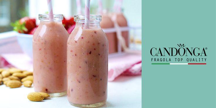 Oggi merenda con frullato di Candonga Fragola Top Quality®! Una delizia per piccoli e grandi! #candongatop #fragole