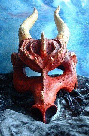 Masquerade Ball Masks: unique masquerade masks by maskmaker Helen Rich | Masks Gallery | Fantasy | Welsh Red Dragon