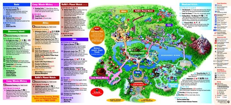 Animal Kingdom Map Wdw Animal Kingdom Pinterest