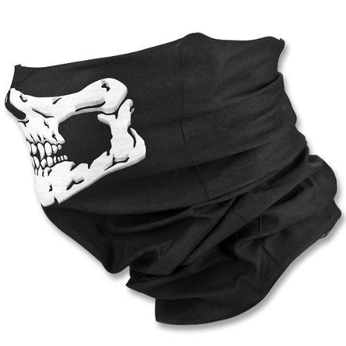 81% Off was $14.99, now is $2.82! Bestpriceam Bicycle Ski Skull Half Face Mask Ghost Scarf Multi Use Neck Warmer COD