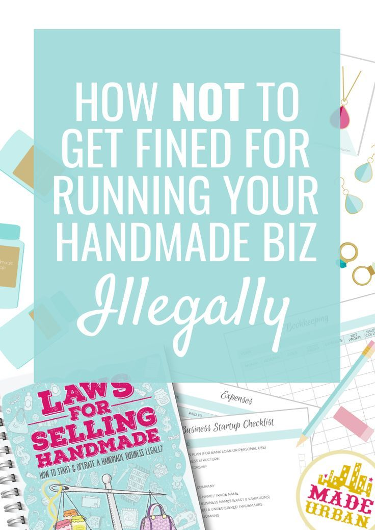 Laws For Selling Handmade Craft Business Things To Sell Handmade