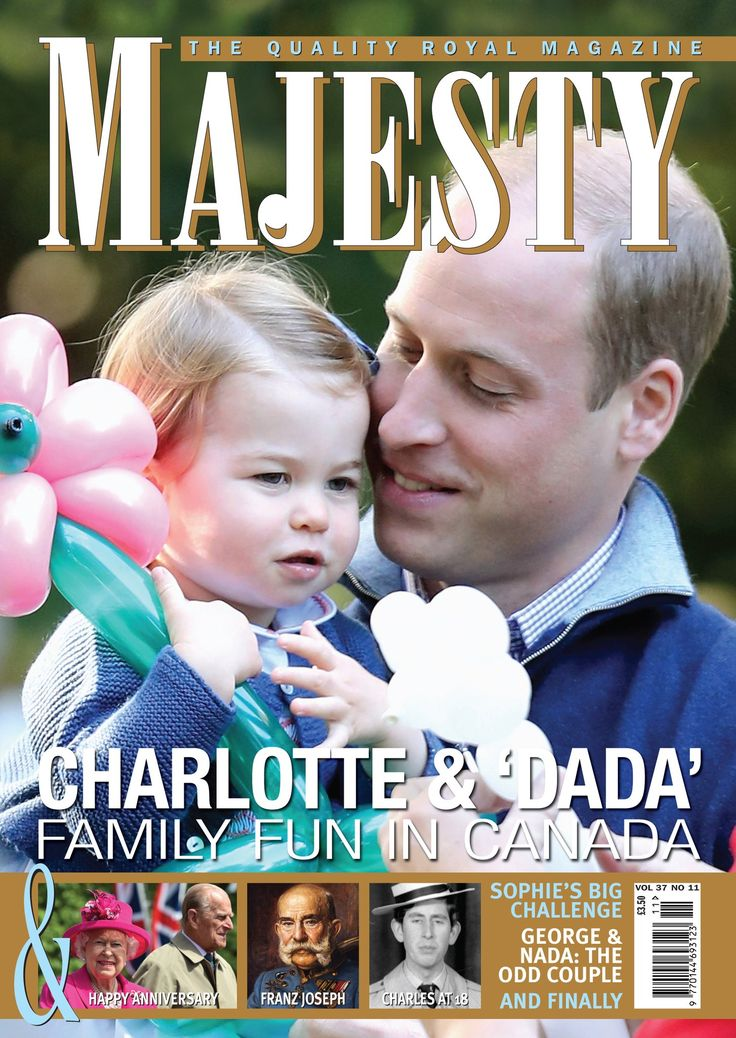 "Majesty/Joe Little on Twitter: ""Princess Charlotte and devoted 'Dada' are on the @MajestyMagazine November cover in a great pic by @ChrisJack_Getty."