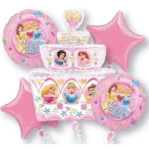 Disney Princess Balloon Centrepiece Example.For your convenience we show an example table centrepiece design you could create yourself using Disney Princess helium filled balloons. For a balloon table weight simply tie the balloons to a heavy Disney Princess toy