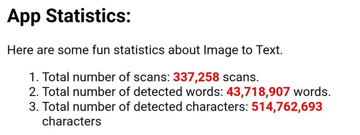 We've just crossed half a billion detected characters on our Image of Text OCR scanner. Thank you!