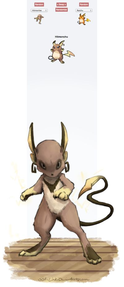 Pokemon fusion= This looks sort of like an Eevee evolution walking on its hind legs.