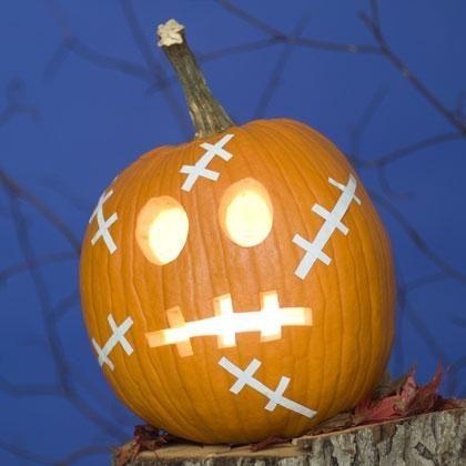 DIY Halloween : DIY All Stitched Up Jack-o'-Lantern