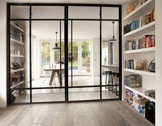 Stalen deuren icm houten kozijnen buitendeur