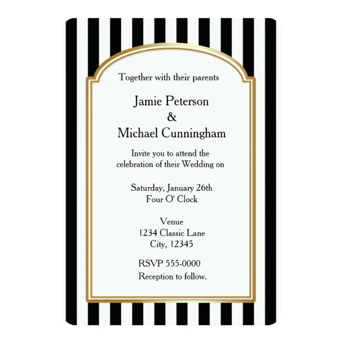 black and white invitation