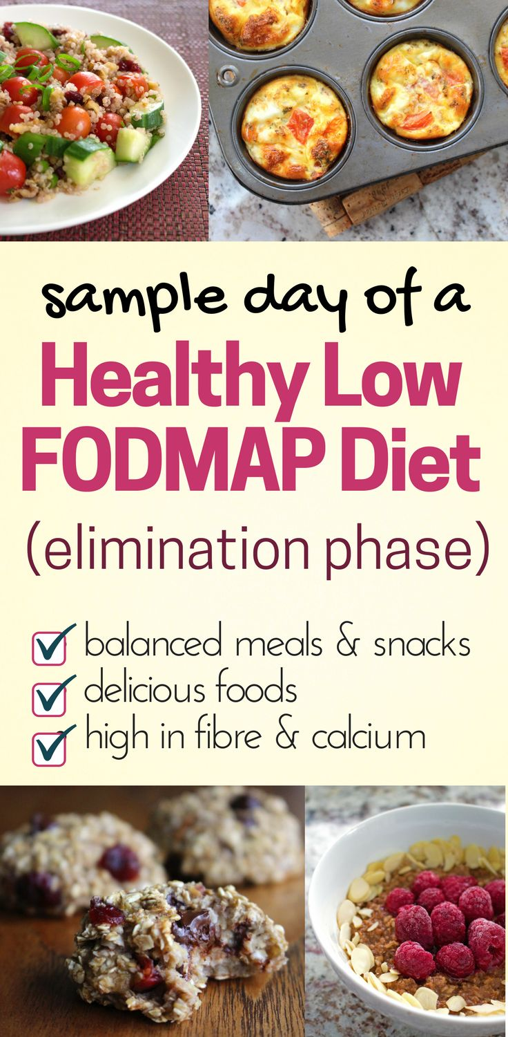 One full day of healthy Low FODMAP meals and snacks. All recipes are safe for the elimination phase of the low fodmap diet and are gluten free. Includes lots of foods high in fibre and calcium. Written by a registered dietitian.