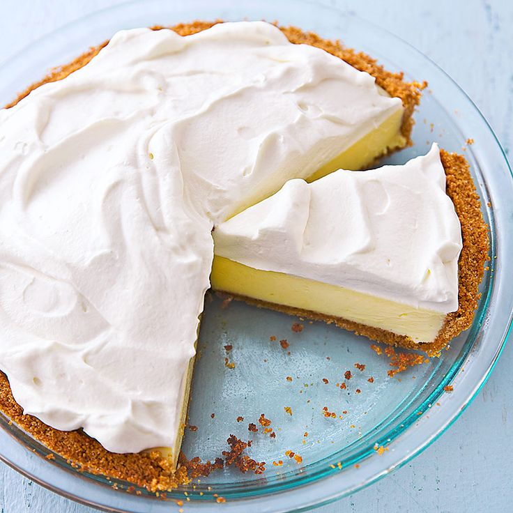 Lemon Icebox Pie Recipe - Cooks Country.  This is the absolute Best Lemon Icebox Pie I have ever tasted.  They tested the recipe and it came out perfect. You will not regret giving this recipe a try.
