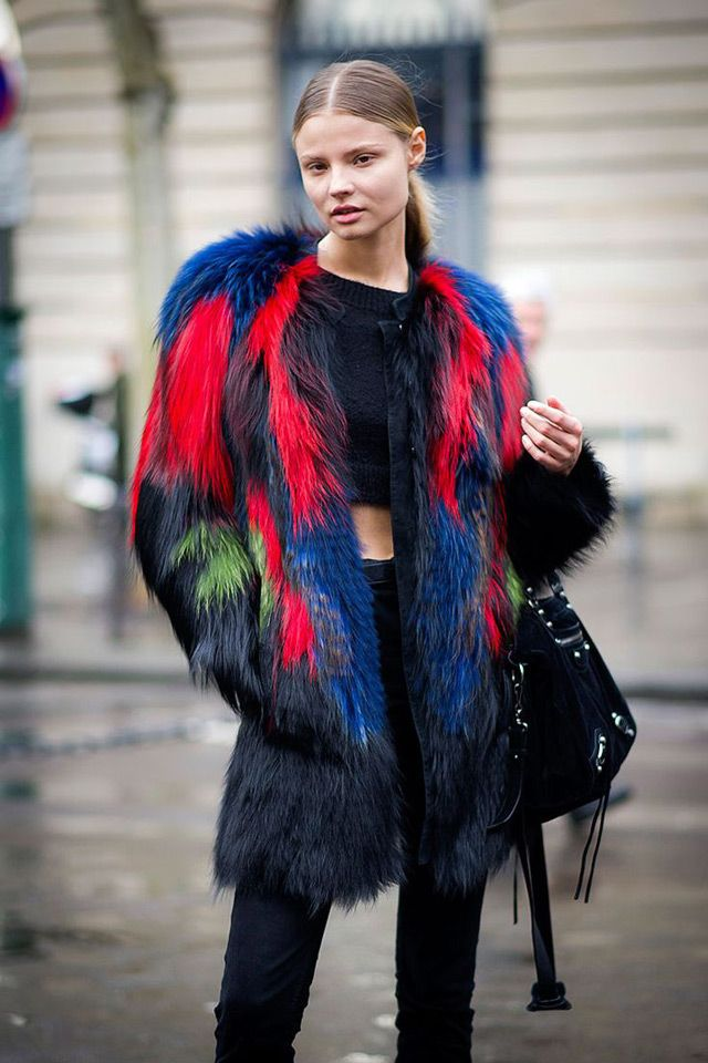 Multi coloured faux fur coats - the next big thing | Keep me warm ...