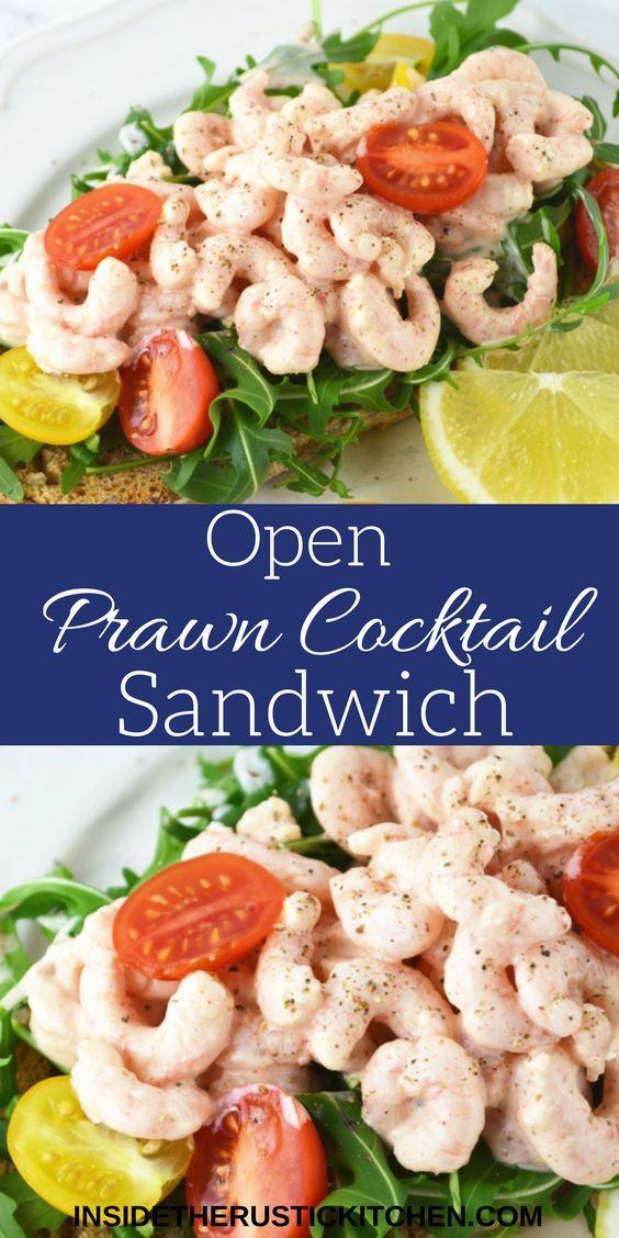 This open Prawn Cocktail Sandwich is a great healthy lunch idea using classic retro flavours, it's utterly delicious! www.insidetherustickitchen.com