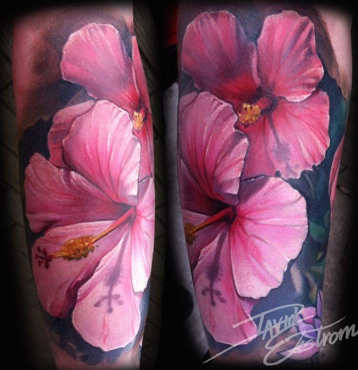 Hibiscus Flower Tattoos | Tattoos & Art by: DAVID EKSTROM: Hibiscus Flower Forearm Tattoo