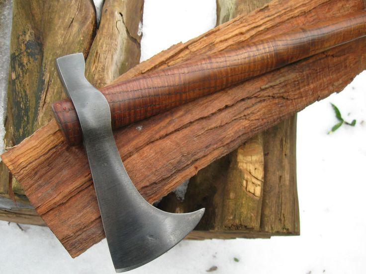 BLACKSMITH HAND FORGED- - BEARDED HAMMER POLL- TOMAHAWK CAMP AXE..HATCHET