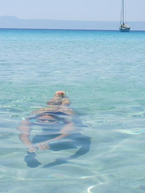 Swimming in Chalkidiki ~ Sithonia peninsula , Greece. Cool! Our Waterproof Ipods Rock! http://www.underwateraudio.com/waterproof-ipod-shuffle/ #UnderwaterAudio
