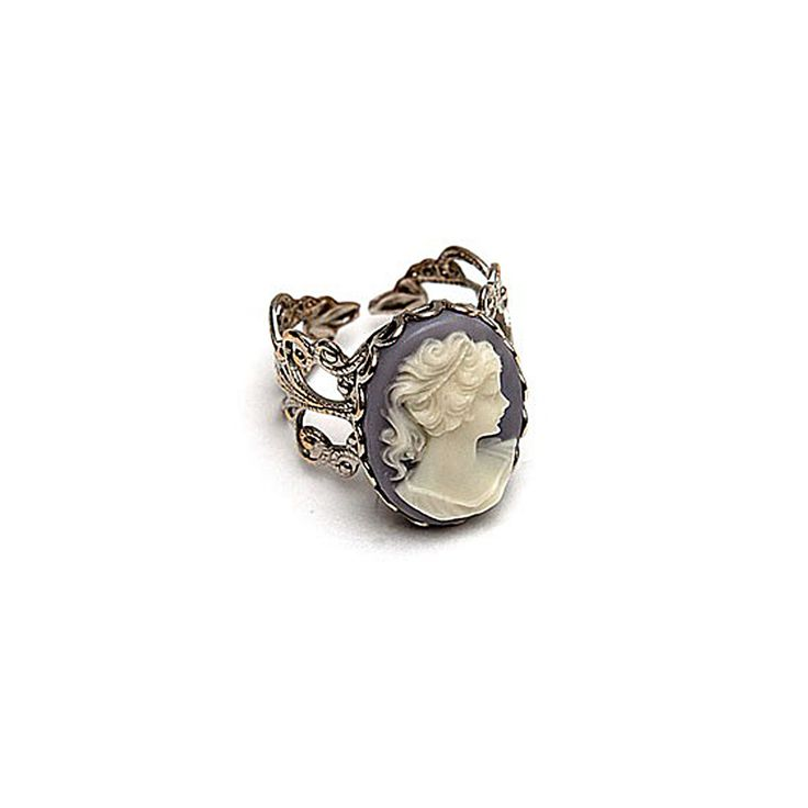 Cameo RingCameo Rings Lov, Floral Adjustable, Beautiful Cameo, Style, Hazel Rings, Adjustable Band, Jewelry, Vintage Cameo, Robyn Rhode