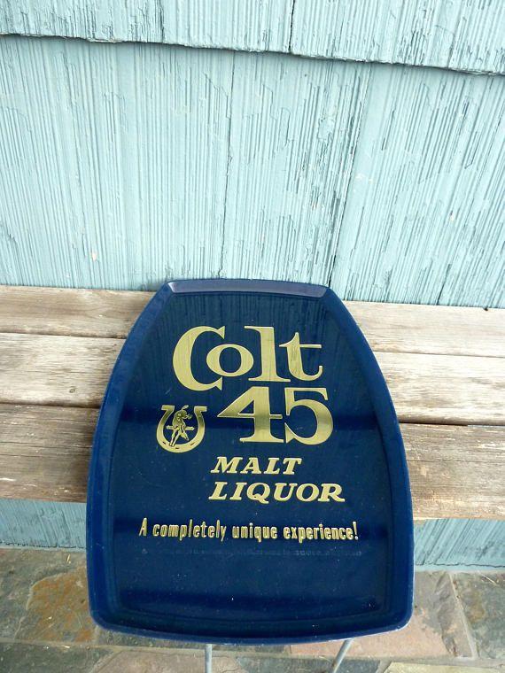 Colt 45 plastic serving tray man cave decor Sunday football