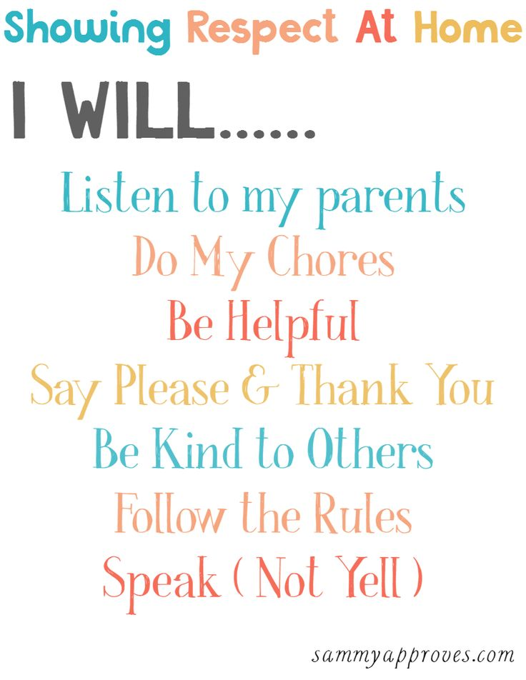 Love this printable! It's such a simple and cute way to remind our kids how they can show respect at home. You could print it and put it on the fridge or in a frame for your kids room or bathroom!