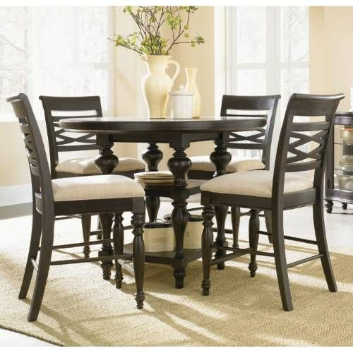 Legacy Classic Furniture 1521-Pub-Table-(4)Pub-Chairs Glen Cove 5 Piece Set Includes Pub Table and 4 Pub Chairs in Espresso