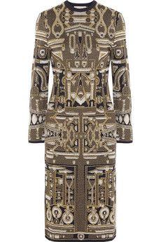 Mary Katrantzou Metallic jacquard-knit dress | THE OUTNET