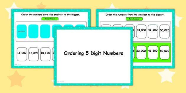 Ordering 5 Digit Numbers Flipchart