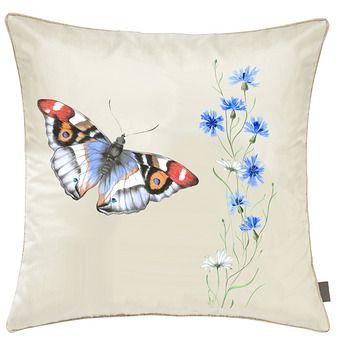 Pernuta decorativa pictata manual 40x40cm - Fetes des Tissus  Jeu du Papillon