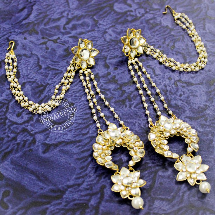 Sadhana Kashmiri Earrings by Indiatrend. Shop Now at WWW.INDIATRENDSHOP.COM