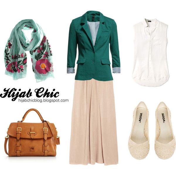 """Hijab style inspiration: blazer style"" by fashion4arab on Polyvore"