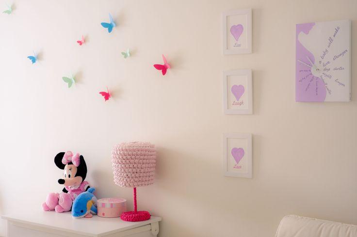 #nursery #babygirl #newborn #handmade #crochet #lamp #decoration #homedecor #watercolours #handpainted #clock #heart #live #laugh #love