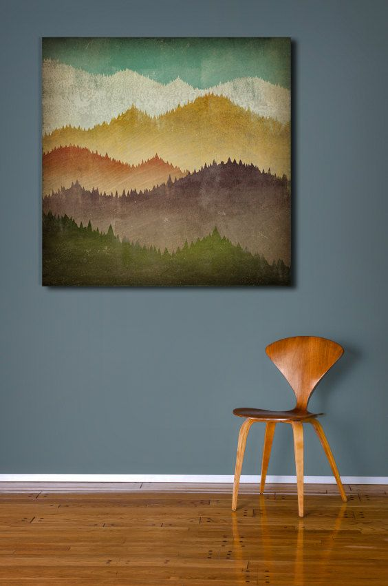 MOUNTAIN VIEW Smoky Mountains Gallery Wrapped by nativevermont, $325.00