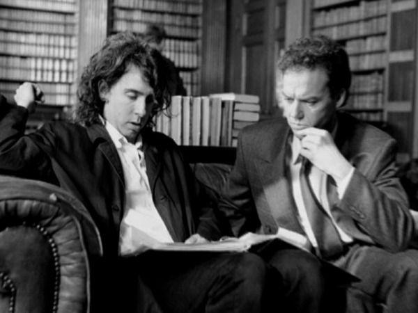 Tim Burton and @MichaelKeaton, crafting Batman, circa 1989