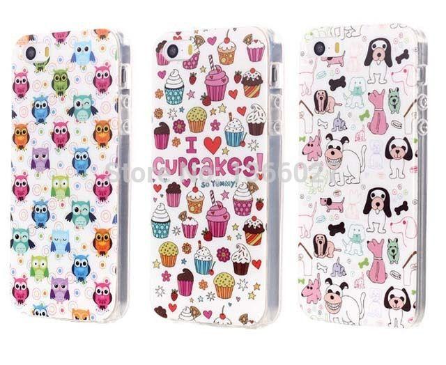Мультфильм сова / собака / мороженое модель мобильного телефона чехол материал пк чехол для iphone 5 5S 5 г бесплатная доставка SJK0173 купить на AliExpress