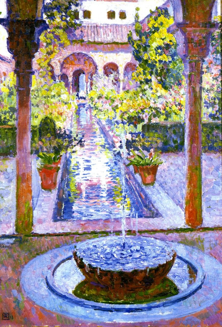 Fountain at the Generalife in Grenada Theo van Rysselberghe