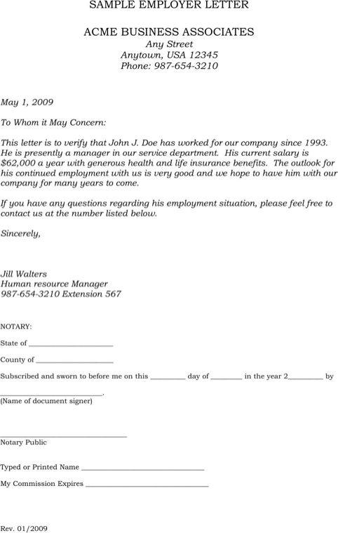 Employment Verification Letter Sample Lettering Letter Of Employment Lettering Download