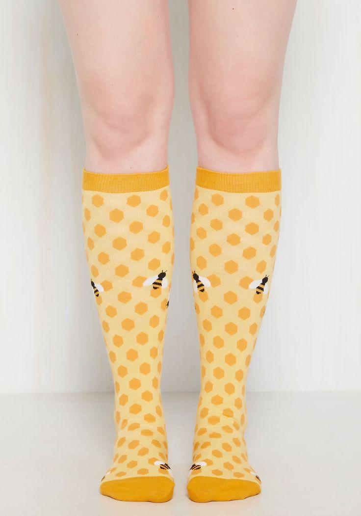 My Honey's On You Socks, #ModCloth