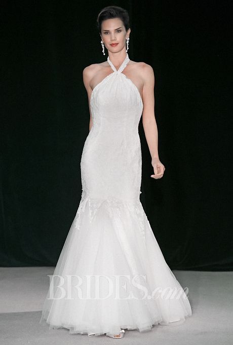 Tendance Robe du mariée  2017/2018  Brides.com: Anne Barge Halter Neck Wedding Dress from Fall 2014 Collection | Cli
