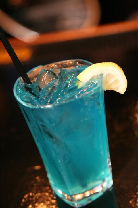 Huckleberry Lemonade Made With 44 North Vodka Triple Sec