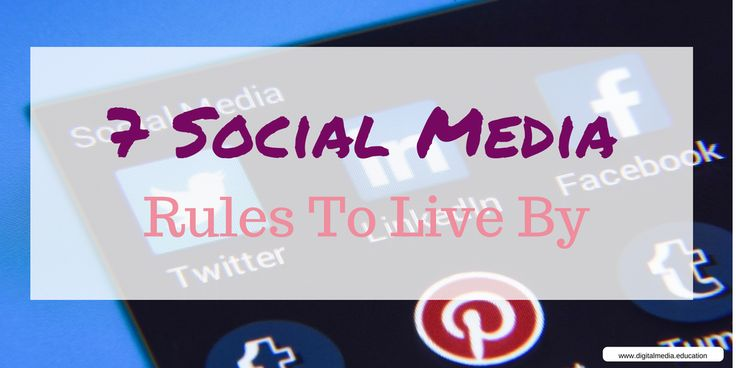 7 Simple Social Media Rules To Live By  ||  Virtually any company that is marketing directly to consumers needs a strong social media presence. Your customers are likely on some form of social media, which means you need to locate the platform they prefer and communicate on the consumer level. http://digitalmedia.education/7-simple-social-media-rules/#.We-X7SJBpjU.twitter?utm_campaign=crowdfire&utm_content=crowdfire&utm_medium=social&utm_source=pinterest